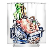 Extreme Lipo Shower Curtain