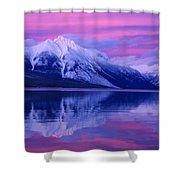 Extreme Sunset On Lake Mcdonald Shower Curtain
