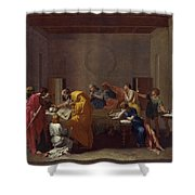 Extreme Unction Nicolas Poussin Shower Curtain
