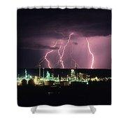 Exxon Lightning Shower Curtain