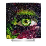 Eye And Butterflly Vegged Out Shower Curtain