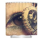 Eye Heart U Shower Curtain
