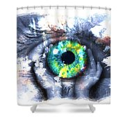 Eye In Hands 002 Shower Curtain