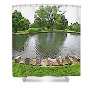 Eye Lake Shower Curtain