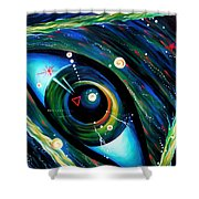 Eye Of Immortal Eternity. Timeless Space 2 Shower Curtain