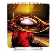 Eye Of The Gods Abstract Shower Curtain