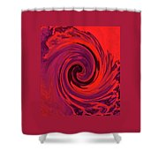 Eye Of The Honu - Red Shower Curtain