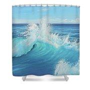 Eye Of The Ocean Shower Curtain