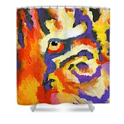 Eye Of The Tiger Shower Curtain by Stephen Anderson