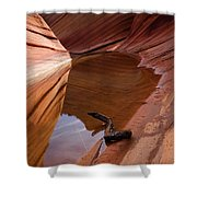 Eye Of The Wave Shower Curtain