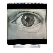 Eye Portrait Shower Curtain