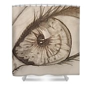 Eyeball 1 Shower Curtain