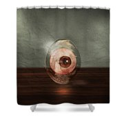 Eyeball In A Egg Shower Curtain
