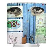 Eyes Door Shower Curtain