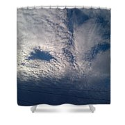 Eyes In The Clouds Shower Curtain