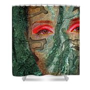 Eyes Of Emerald Shower Curtain