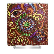 Eyes Of Fire Shower Curtain