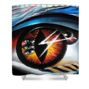 Eyes Of Immortal Soul Shower Curtain