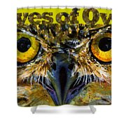 Eyes Of Owls 18 Shirt Shower Curtain