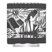 Eyes Of The Beholder Shower Curtain