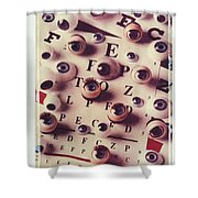 Eyes On Eye Chart Shower Curtain