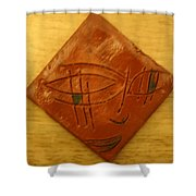 Eyes On You - Tile Shower Curtain
