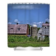 Eyes Over Corn Shower Curtain