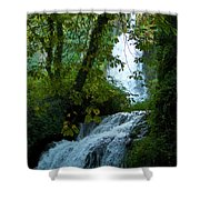 Eyes Over The Flowing Water Shower Curtain