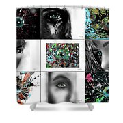 Eyes Popurri Shower Curtain