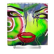Eyes That Could Kill Shower Curtain