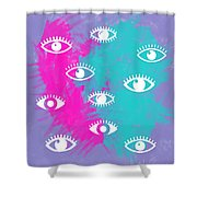 Eyes, The Look Shower Curtain
