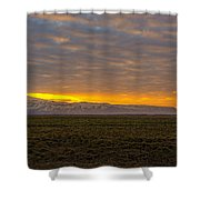 Eyjafjallajokull Sunrise Iceland Shower Curtain