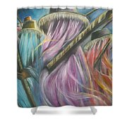 Eyo Masquerade Colorful Shower Curtain