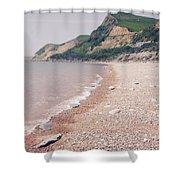 Eype Beach Shower Curtain