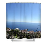 Eze's Garden Panoramic Shower Curtain