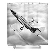 F-104a Starfighter Shower Curtain
