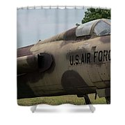 F -105 Thunderchief - 2 Shower Curtain