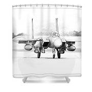 F-15e Strike Eagle Shower Curtain