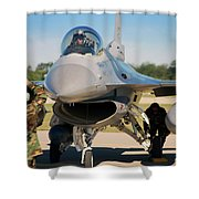 F-16 Fighting Falcon  Shower Curtain