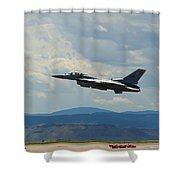 F-16 Tower Shower Curtain