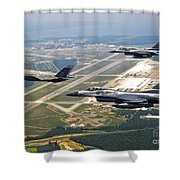 F-35 Lightning II Aircraft In Flight Shower Curtain