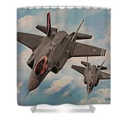 F-35's On Assignment  Shower Curtain
