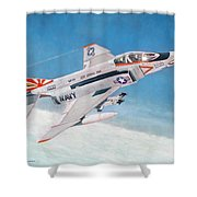 F-4b Phantom II Of Vf-111 Shower Curtain