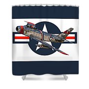 F-86 Sabre Shower Curtain