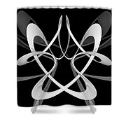 F C - Floating Circumvolution  Shower Curtain