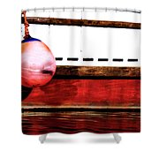 F Dock Buoy Shower Curtain