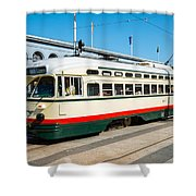 F-line San Francisco  Shower Curtain