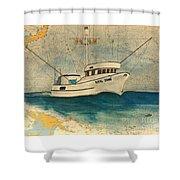 F/v Royal Dawn Tuna Fishing Boat Shower Curtain