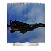 F15 Eagle In Afterburner Shower Curtain