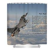F16 - High Flight Shower Curtain